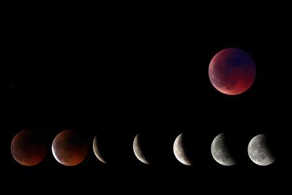 Eclipse de Luna Llena Roja